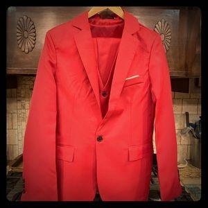 Other - Men's Wine Red Three Piece Suit